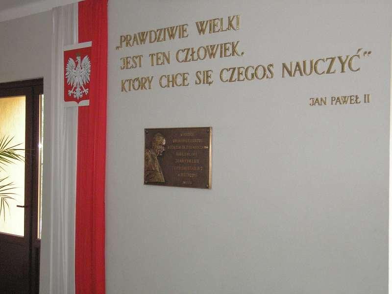 Nadanie imienia Jan Paweł II