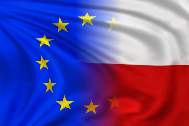 flaga UE/POLSKA